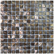 "Art3d 12"" x 12"" Mother of Pearl Mosaic Tiles for Bathroom Backsplashes 20mm Chips, Black Colour"