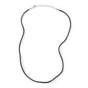 Necklace Rattail Black 2Mm 18In