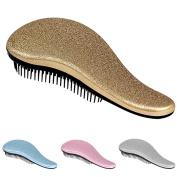 Detangling Hairbrush Comb- Glide Through All Types of Natural & Tangled Hair - Dry & Wet Hair Brush- Gold Sparkle Hair Detangler Brush - For Kids, Women, Men
