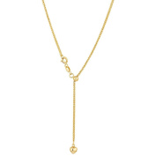 9ct Gold Solid Chain with Sliding Adjuster 45cm