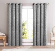 HLC.ME Redmont Lattice Wide-Width Thermal Blackout Grommet Curtain Panel - 210cm inch Long