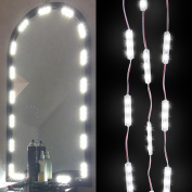 KAZOKU Make-up Vanity Mirror LED Light 60 LED Bulbs 3m DIY Light Kits Cosmetic Mirror with Dimmer Controller - White