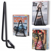 WALLNITURE Heavy-duty Wrought Iron Triangular Wall Mounted Brackets Magazine Holder Racks Black Set of 4