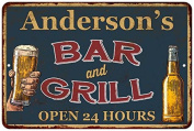 Anderson's Green Bar and Grill Open 24hrs Chic Sign Home Décor Gift G81205085