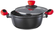 Style'n Cook ROCKPEARL FIRE cooking pot with glass lid Induction 20cm