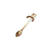 BESTOMZ Stainless Steel Cartoon Cat Coffee Spoon Tea Hanging Cup Spoon Kitchen Supplies