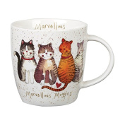 Alex Clark Squash Mug Cats Marvellous Moggies, Multi/colour