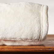 Cosy All Over Foot Pocket Throw with Sleeves, Cream