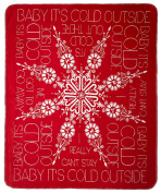 Denali Lyric Culture Baby Its Cold Outside Acrylic Double-Sided Throw; Red