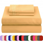 Mezzati Luxury Bed Sheets Set - Sale - Best, Softest, Cosiest Sheets Ever! 1800 Prestige Collection Brushed Microfiber Bedding