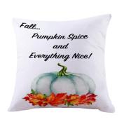Pillow Case, NXDA Thanksgiving Day Turkey Flax Throw Pillows Cover Decorative, 46cm x 46cm