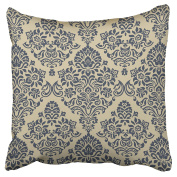 Emvency Pillowcases Blue Taupe Pattern On Homes Throw Pillow Covers Cushion Cases Protectors Cover Case Decorative Sofa Square 46cm x 46cm One Side Print