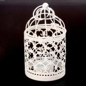 Metal bird cage,ASDOMO Bird Cage Metal Hollow out Decorative Birdcage Iron Candle Holder Candlestick Hanging Lantern
