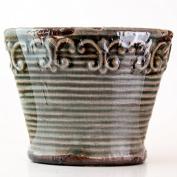 Olive Verbena Vintage Vase Swan Creek Candle (Colour