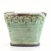Sweet Almond Crème Vintage Vase Swan Creek Candle (Colour