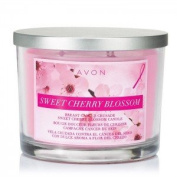 Avon Breast Cancer Crusade Sweet Cherry Blossom 3 Wick Candle