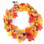 Coerni Premium Thanksgiving Day Decorative Fall Garland Berry Maple Leaf Wreath - 5 Pattern