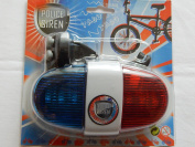 Police bike siren with light