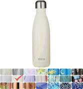 MIRA Vacuum Insulated Travel Water Bottle | Leak-proof Double Walled Stainless Steel Cola Shape Portable Water Bottle | No Sweating, Keeps Your Drink Hot & Cold | 17 Oz
