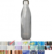 MIRA Vacuum Insulated Travel Water Bottle | Leak-proof Double Walled Stainless Steel Cola Shape Sports Water Bottle | No Sweating, Keeps Your Drink Hot & Cold | 25 Oz