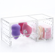 Weiai Clear Acrylic Lipstick Holder Beauty Blender Organiser Makeup Storage Box Makeup Sponge Puff Organiser C159