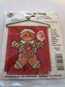 Gingerbread Dad Cross Stitch 'n Hang Kit... 7.6cm width