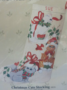 """Something Special Christmas Cross Stitch Kit """"CHRISTMAS CATS STOCKING"""" #50170"""