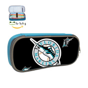Florida Marlins pencil case student Unisex Large Capacity skillful manufacture blue