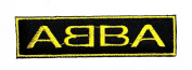 Yellow Black ABBA Rock Music Band Heavy Metal Punk Rock Logo iron on sew on patch Jacket T Shirt Patch Sew Iron on Embroidered Symbol Badge Cloth Sign Costume