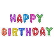 41cm Happy Birthday Letter Foil Balloon Party Decorations Alphabet Balloons Banner Balloons