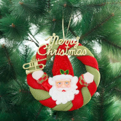Zehui Christmas Cloth Garland Wall Hanging Ornaments Charming Creative Christmas Suspension Loop Santa Clause Snowman Cloth Wall-Hang Pendant Wreath Party Festival Decoration Santa Clause