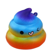 Auwer 6.5CM Exquisite Fun Crazy Poo Scented Squishy Charm Slow Rising Simulation Kid Toy