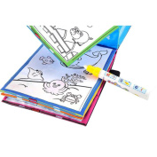SMYTShop Magic Water Drawing Book Colouring Book Doodle Magic Pen Animals Painting for Kids