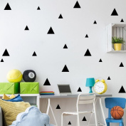 Triangles Removable Wall Stickers, Qisc Home Bathroom Livingroom Bedroom Decorations Art Decor