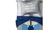 Star Wars Grey & Blue Twin Quilt Set