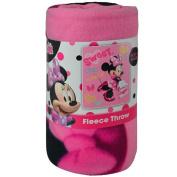 Disney Minnie Mouse Sweet Pink Fleece Throw Blanket 45x60