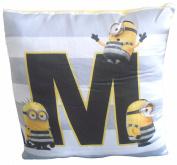 Despicable Me 3 Minions 'M' Cushion 30cm
