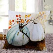 Muxika New Fashion Thanksgiving Pumpkin Happy Pillow Cases Linen Sofa Cushion Cover Home Decor Square 45 x 45cm 18 x 18inch