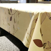 LeeVan Heavy Weight Vinyl square Table Cover Wipe Clean PVC Tablecloth Oil-proof/Waterproof Stain-resistant/Mildew-proof - 140cm x 140cm