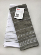 KitchenAid grey and white kitchen towels two pack
