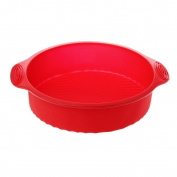 BetterM 25cm Silicone Cake Mould, Round Shape 3D DlY Baking Mould