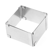 BetterM Adjustable Mousse Cake Ring Baking Mould, Square Shape Cookie Cutters Bakeware Sets