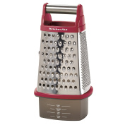KitchenAid Gourmet Stainless Steel Box Grater, Pomegranate