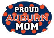 Auburn Tigers Pround Mom Magnet Single