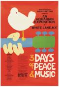 Woodstock Music & Art Fair, 1969, 3 Days of Peace and Music, Poster Art, Souvenir Magnet 2 x 3 Fridge Magnet