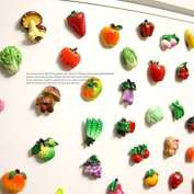 Miss.AJ 10 pcs Fridge Magnets Fruits Vegetables Magnetic Stickers Fridge Decors Baby Kids Education Learn Toys