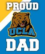 UCLA Bruins 13cm x 15cm Proud Dad Magnet Single
