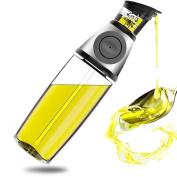 Oil Dispenser Bottle - 500ml Oil Bottle Glass with No Drip Bottle Spout - Oil Pourer Dispensing Bottles for Kitchen - Olive Oil Glass Dispenser to Measure Cooking Vegetable Oil and Vinegar