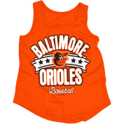 MLB Baltimore Orioles Girls Short Sleeve Team Colour Graphic Tee