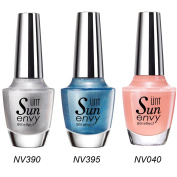 UNT 3 Pcs Gel Effect Nail Lacquer, No UV/LED Light Needed, Quick Dry Nail Polish, 15ml/0.5oz Each